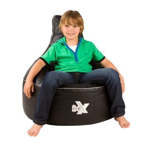 I EX Rookie: Black Kids Gaming Chair | Kids Bean Bag For Gaming | BeanBag  Bazaar