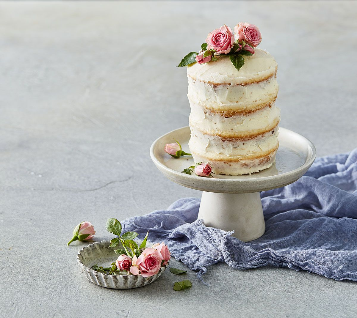 Naked Cake with Candied and Sugared Berries | Ashlee Marie
