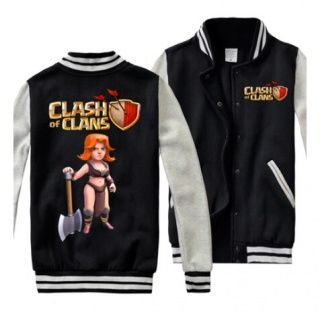 Mens sweatshirts Clash of Clans Valkyrie baseball jackets plus size