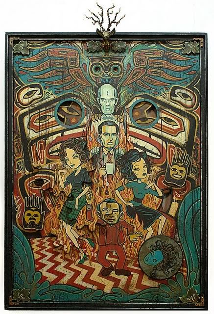 Through the darkness of futures past / the magician longs to see / one chance out between two worlds... fire walk with me!