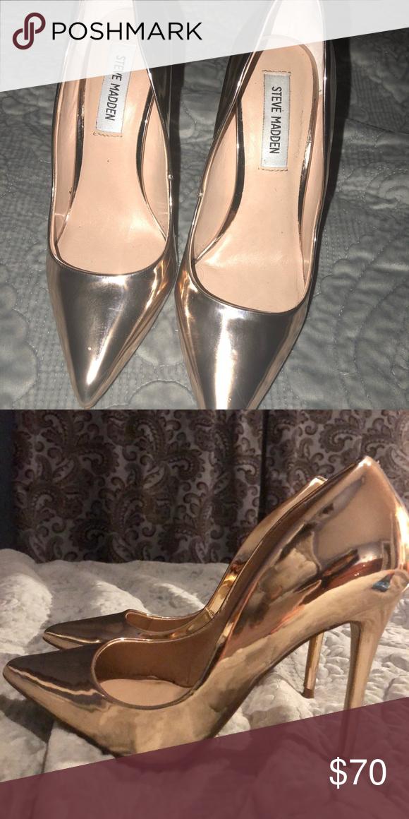 9dea0381772 Steve Madden women heels 6.5 size Rose Gold Daisie Daisie Rose Gold heels  6.5 size Steve Madden Shoes Heels