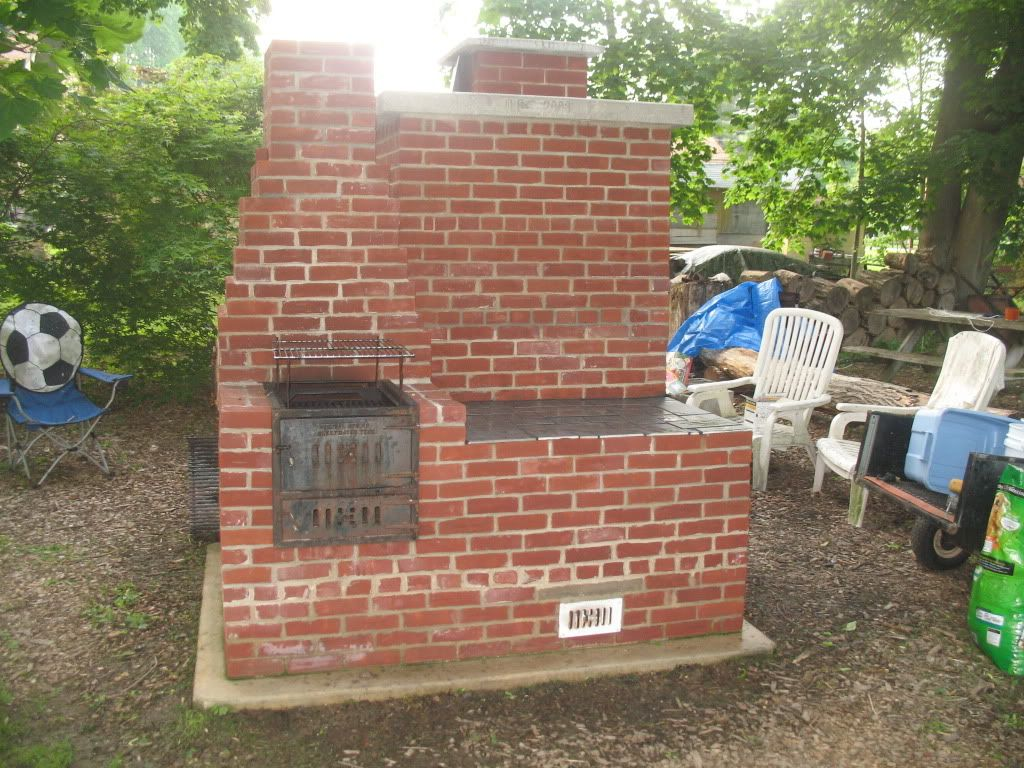 Custom built brick smoker with grill hey grob what do you think of