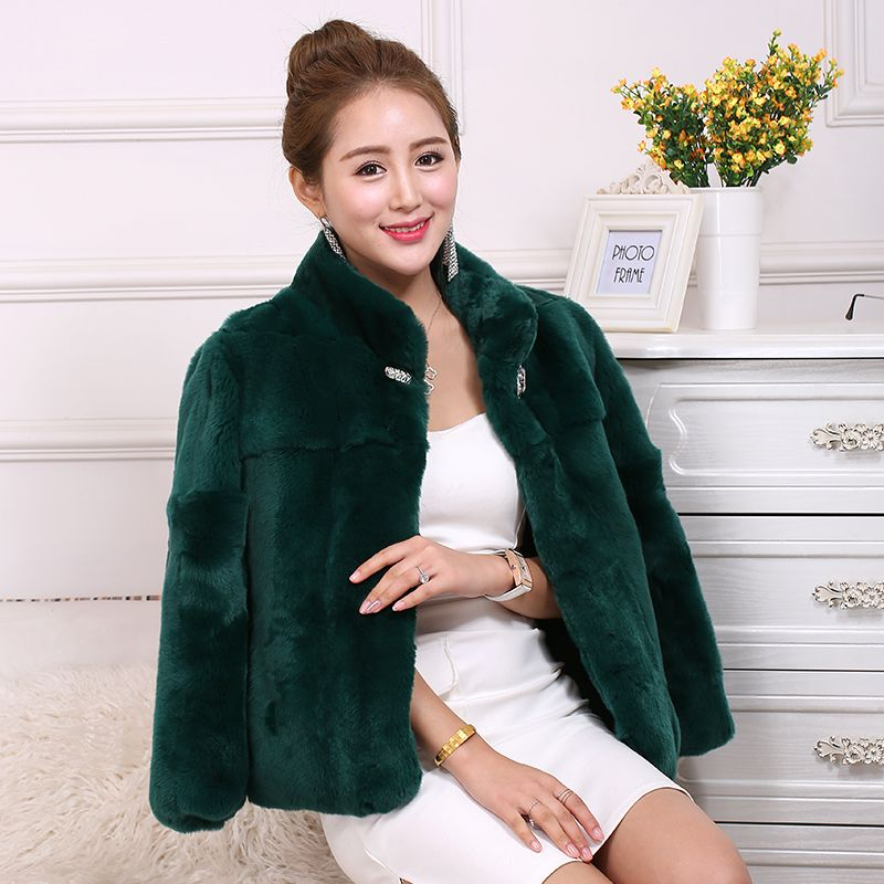 >> Click to Buy << 2016 new winter grass Rabbit fur coat female short paragraph whole skin collar was thin large size leather Specials #Affiliate