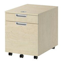 Delightful GALANT Drawer Unit/drop File Storage, Birch Veneer