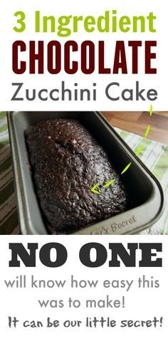 Photo of Classic, old fashioned chocolate zucchini cake recipe using only 3 ingredients! …