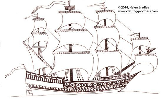 How to draw a spanish galleon  Drawing step by step  Pinterest
