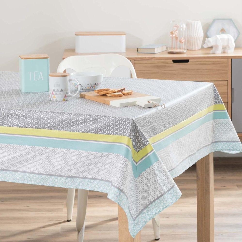 Nappe Enduite Carree En Coton 170 X 170 Cm Maisons Du Monde Home Decor Home Table Cloth