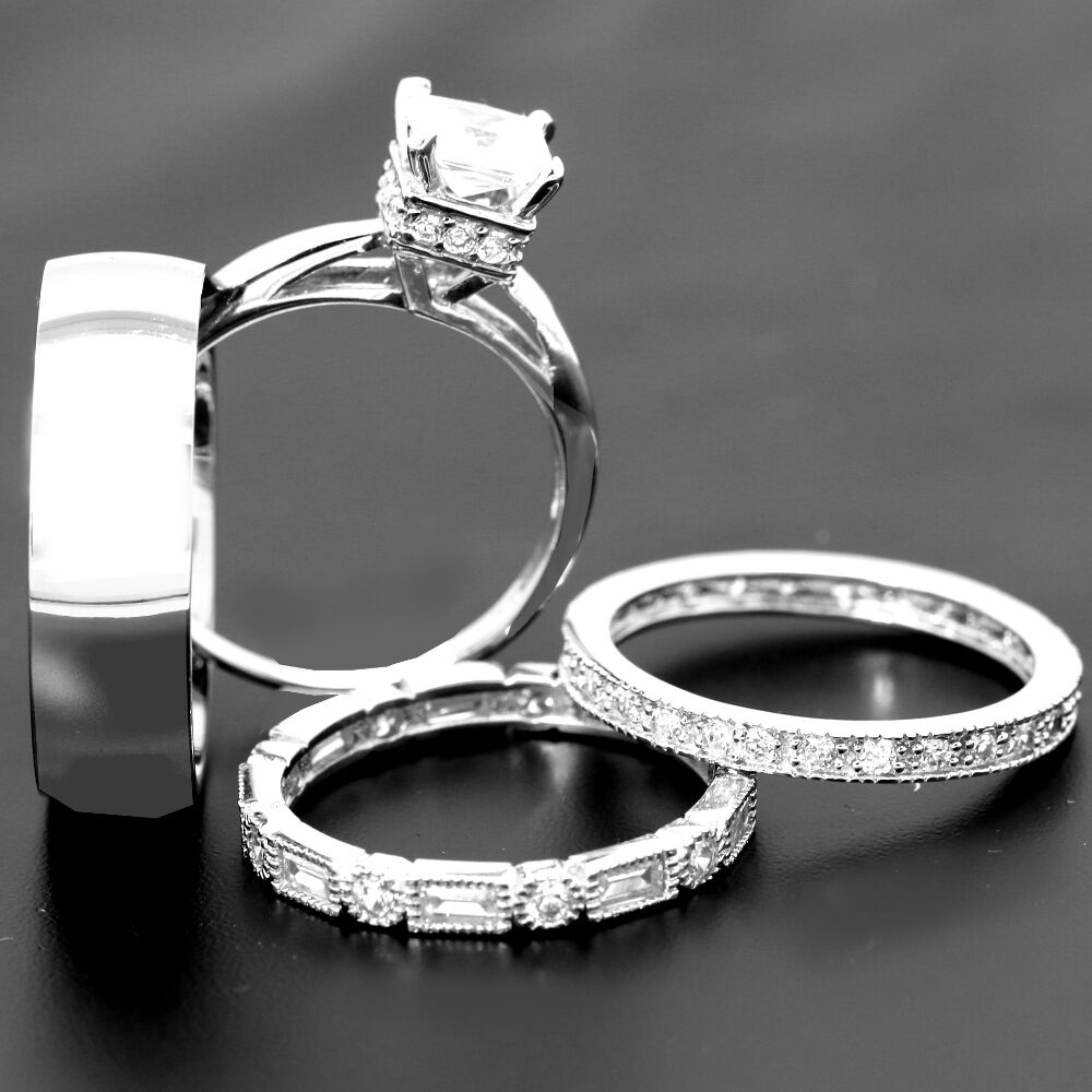 Wedding Ring Sets His And Hers Best 4 His And Hers