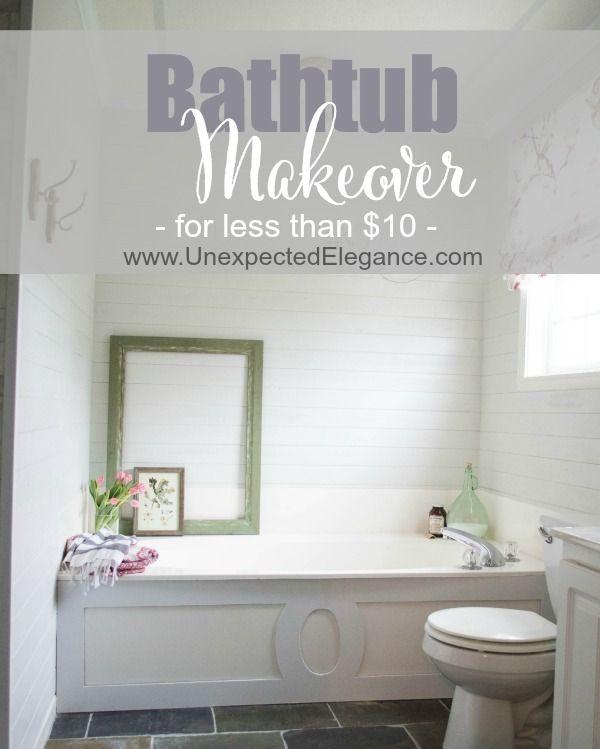 $9 Bathtub Makeover | Share Your Craft | Pinterest | Bathtub ...