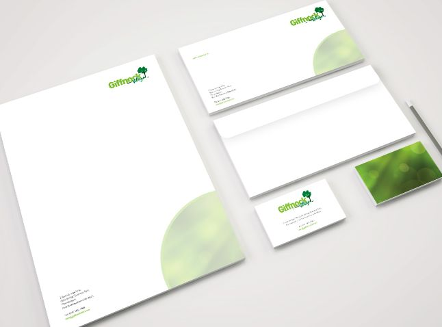 Giffnock Village  Logo Business Cards Letterheads Compliment