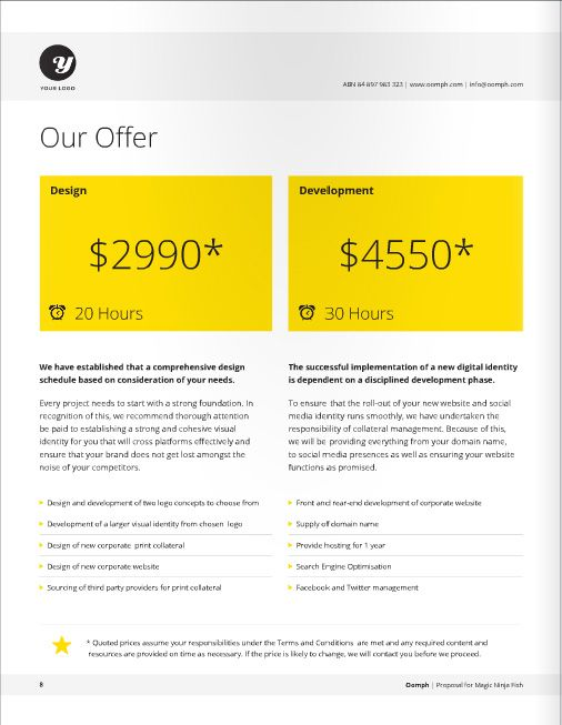 Nice Freelance Designer Proposal Template For Download At A Great Deal