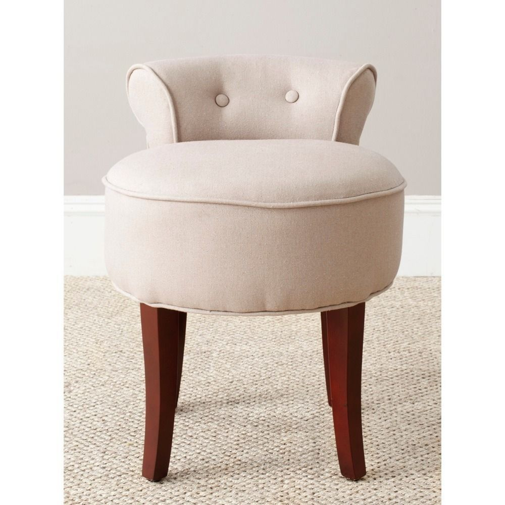 Petite Safavieh Rochelle Light Grey Vanity Chair Mcr4546a Beige
