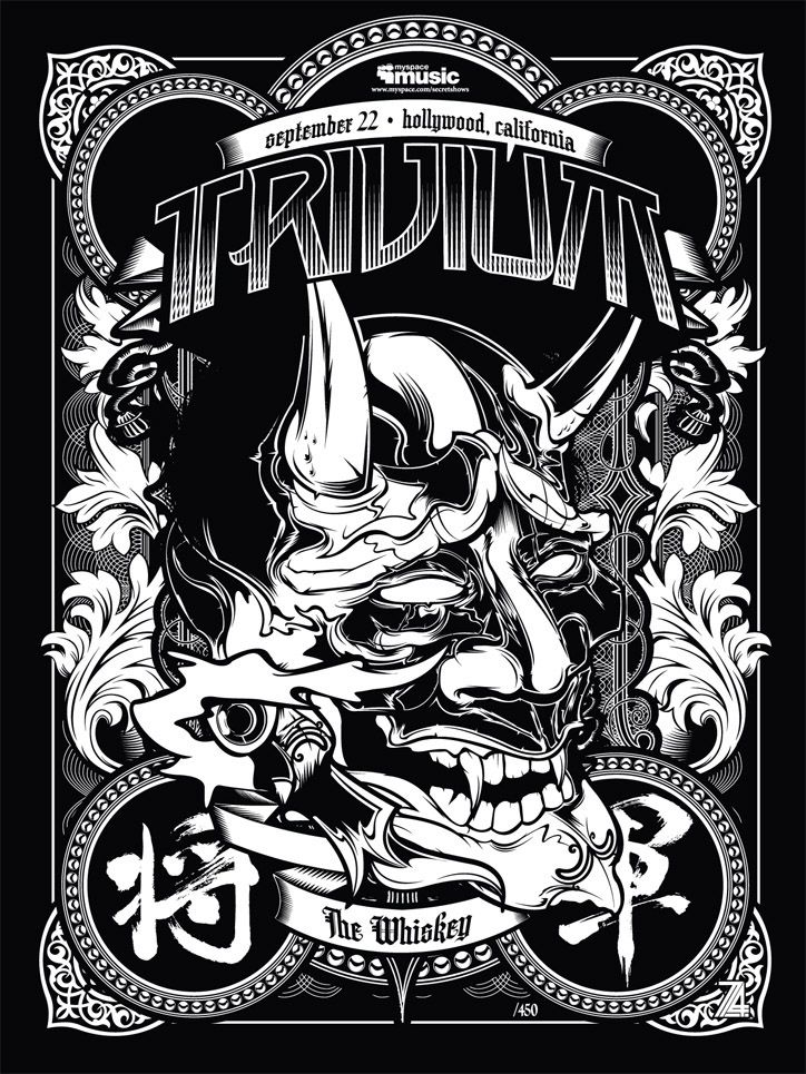 Trivium Poster Gig Posters Heavy Metal Bands Band