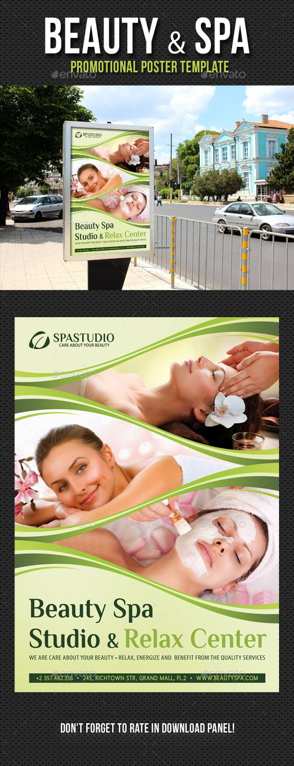 Beauty And Spa Poster Template V  Template Print Templates And