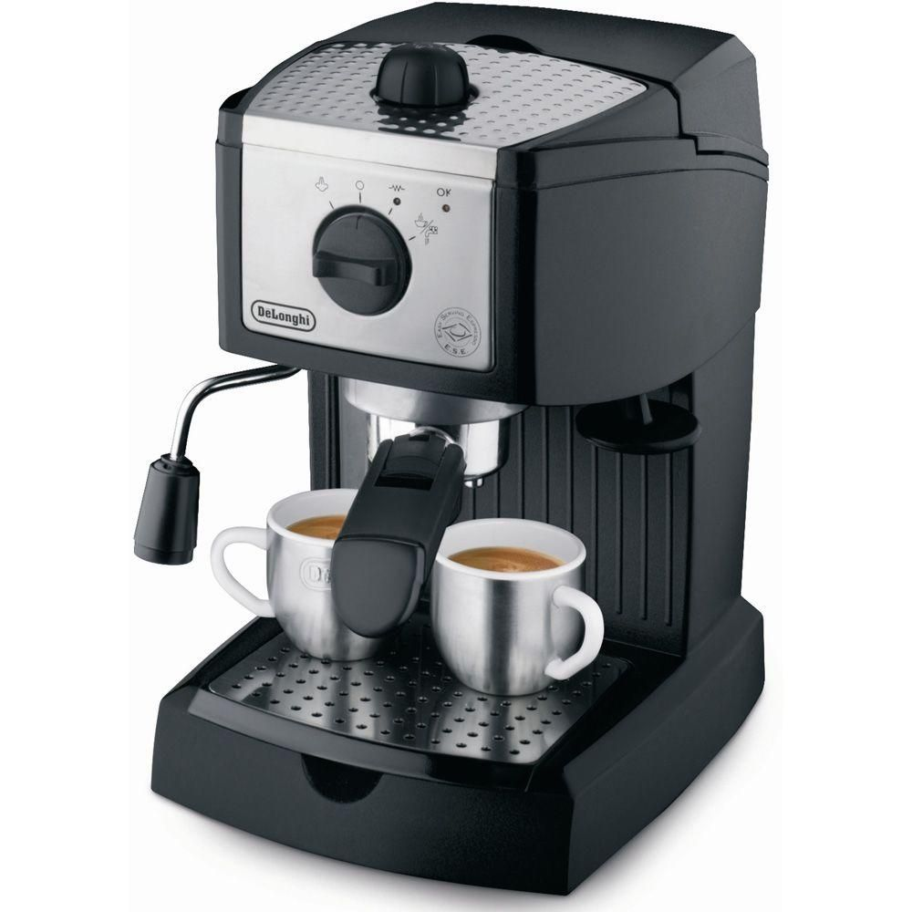 DeLonghi EC155 15-Bar Black and Silver Espresso Machine and Cappuccino Maker EC155 #espressomaker