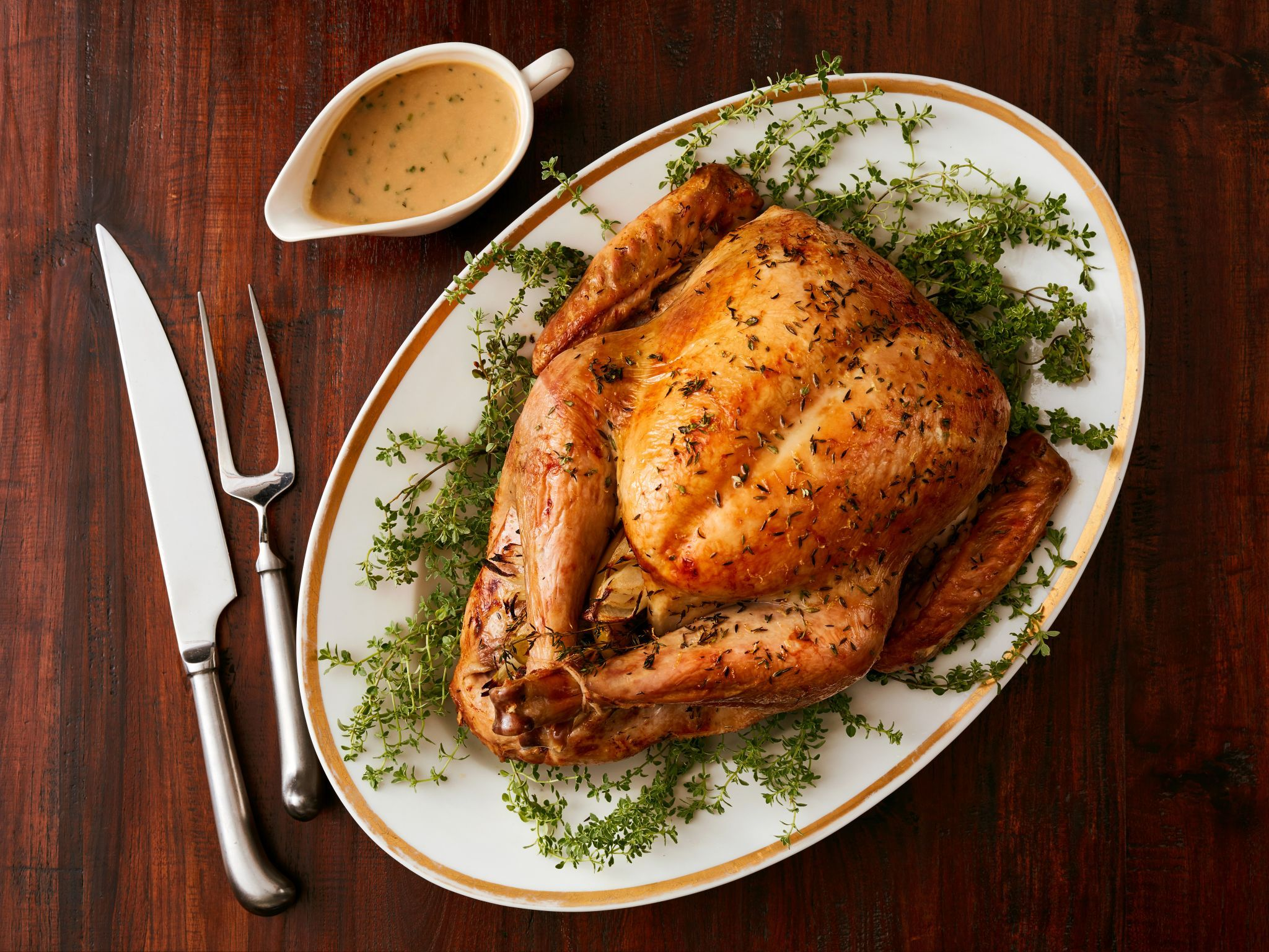 Prosecco roasted turkey with lemon and thyme recipe from food prosecco roasted turkey with lemon and thyme recipe from food network kitchen via food network forumfinder Gallery