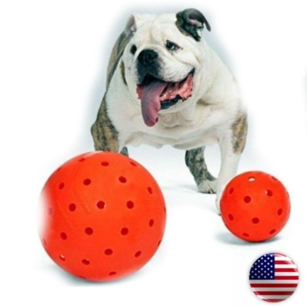 Indestructible 10 Large Dog Ball in Orange Pit Bulls