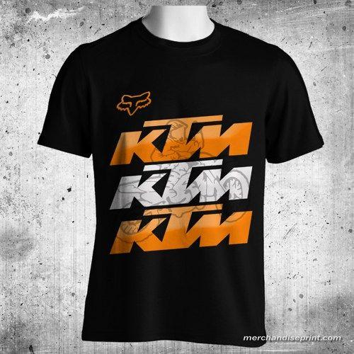 Fox Clothing KTM Shadow Black T Shirt Size M 3XL