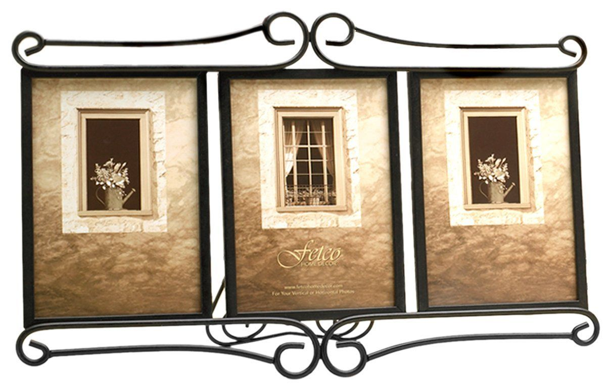 Amazon.com - Fetco Home Décor Alton Triple Frame, Bronze - Luxury ...