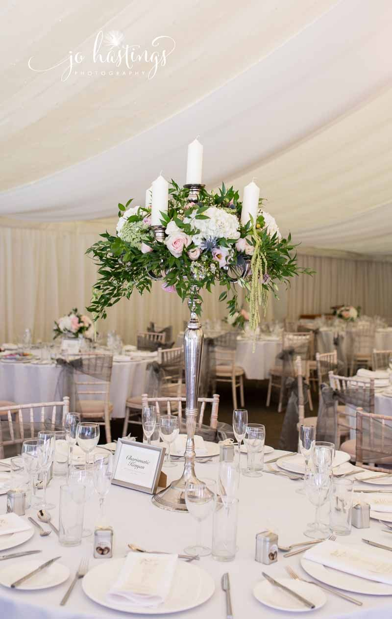 Tall Candelara Wedding Centrepieces Marquee Florist Pion For Flowers Based In West Midlands Uk