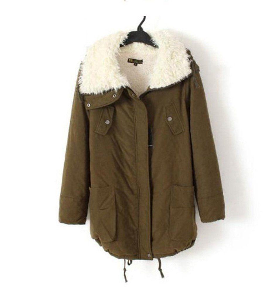 ZXFHZS Mens Classic Winter Faux Fur Collar Fleece Lined Thicken Down Outwear Puffer Jacket