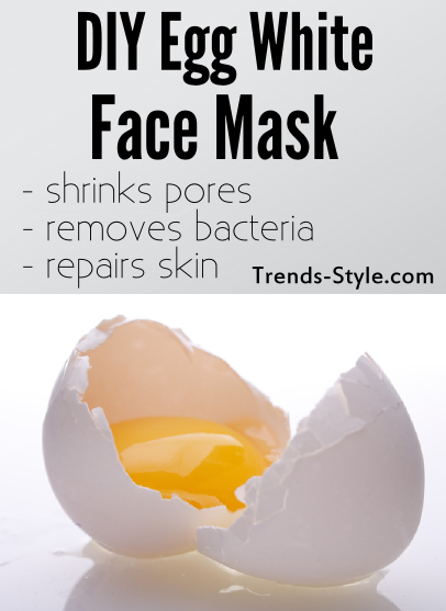 Egg White Face Mask that shrinks pores reduces acne