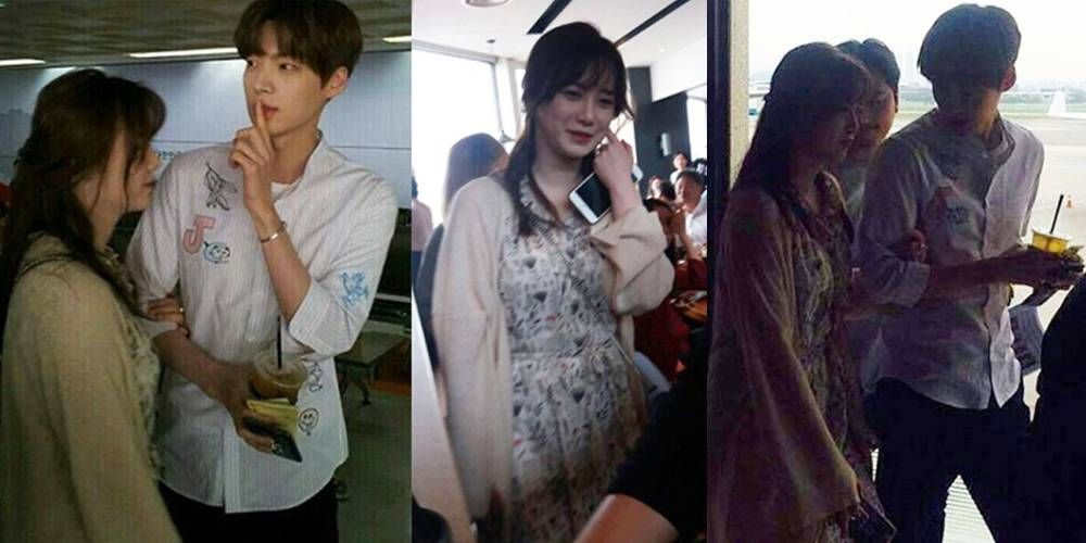 Goo Hye Sun And Ahn Jae Hyun Spotted At The Airport Clarify