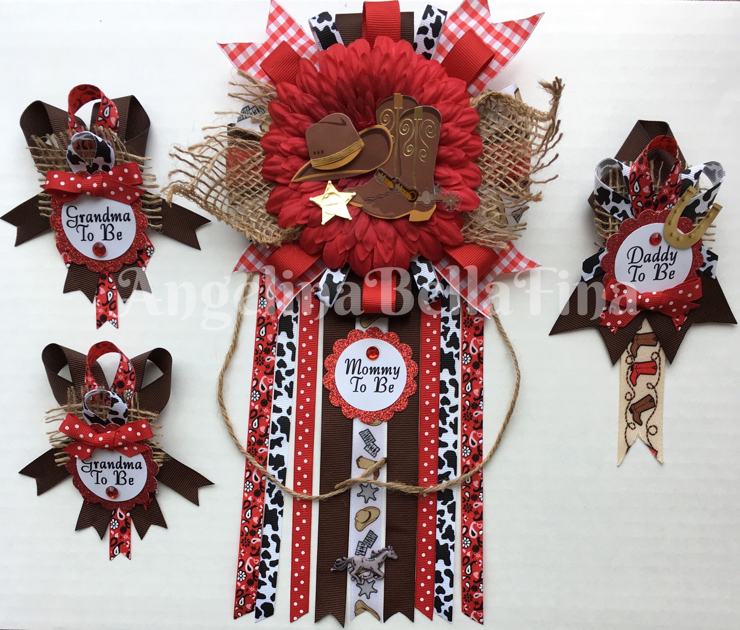 New Cowboy Cowgirl Rodeo Western Themed Mommy Daddy And Grandma