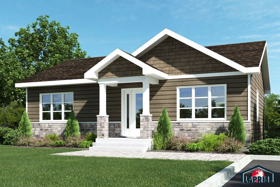 Champ tre lap0366 maison laprise maisons pr usin es house plans in 2019 cottage house - Plan coupe facade maison ...