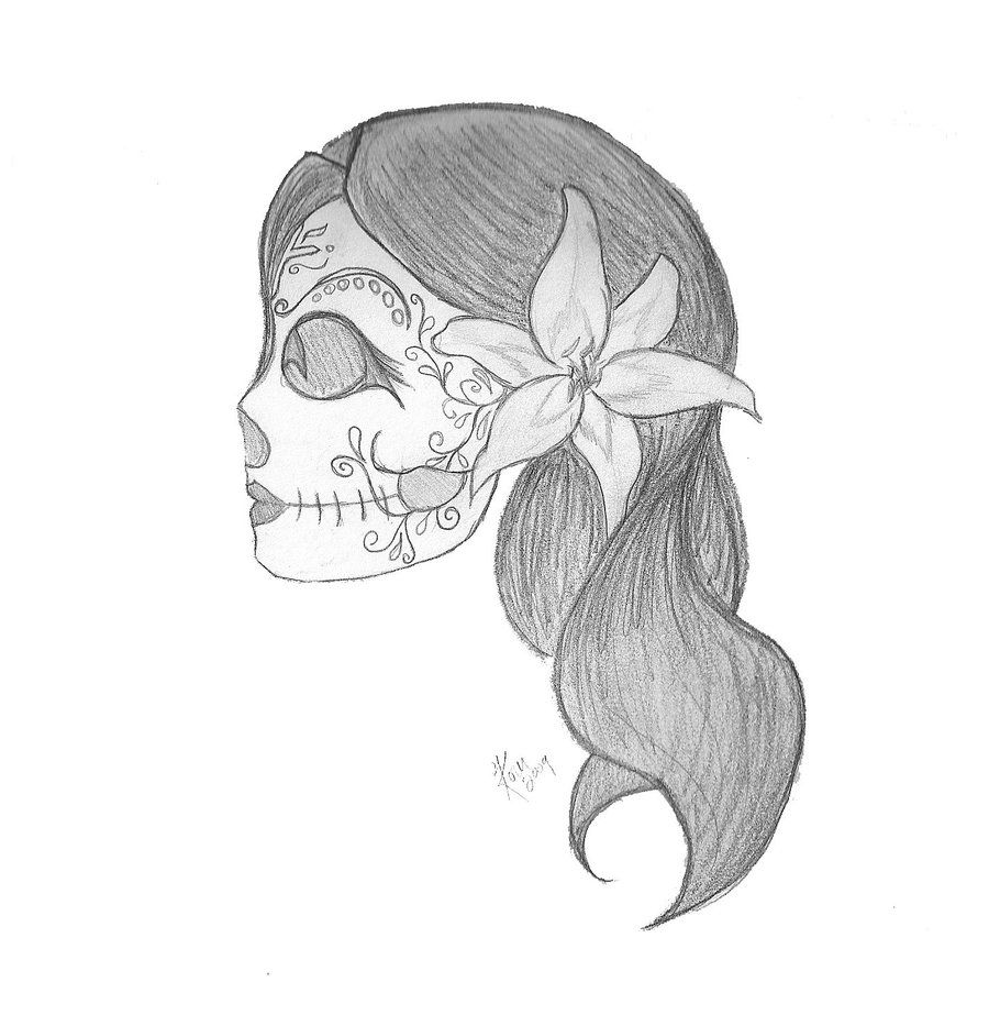 Sugar skull by gin tattoos pinterest for Designs for drawing easy