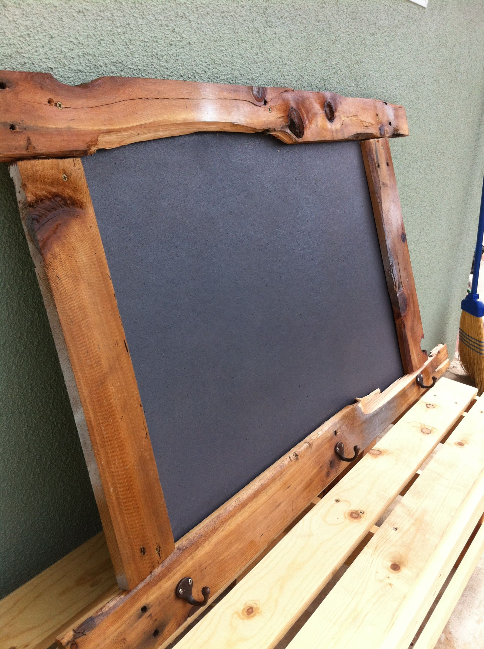 Rustic Pin Board Made From Pallet Wood And Bulletin Board.... Happy Bday