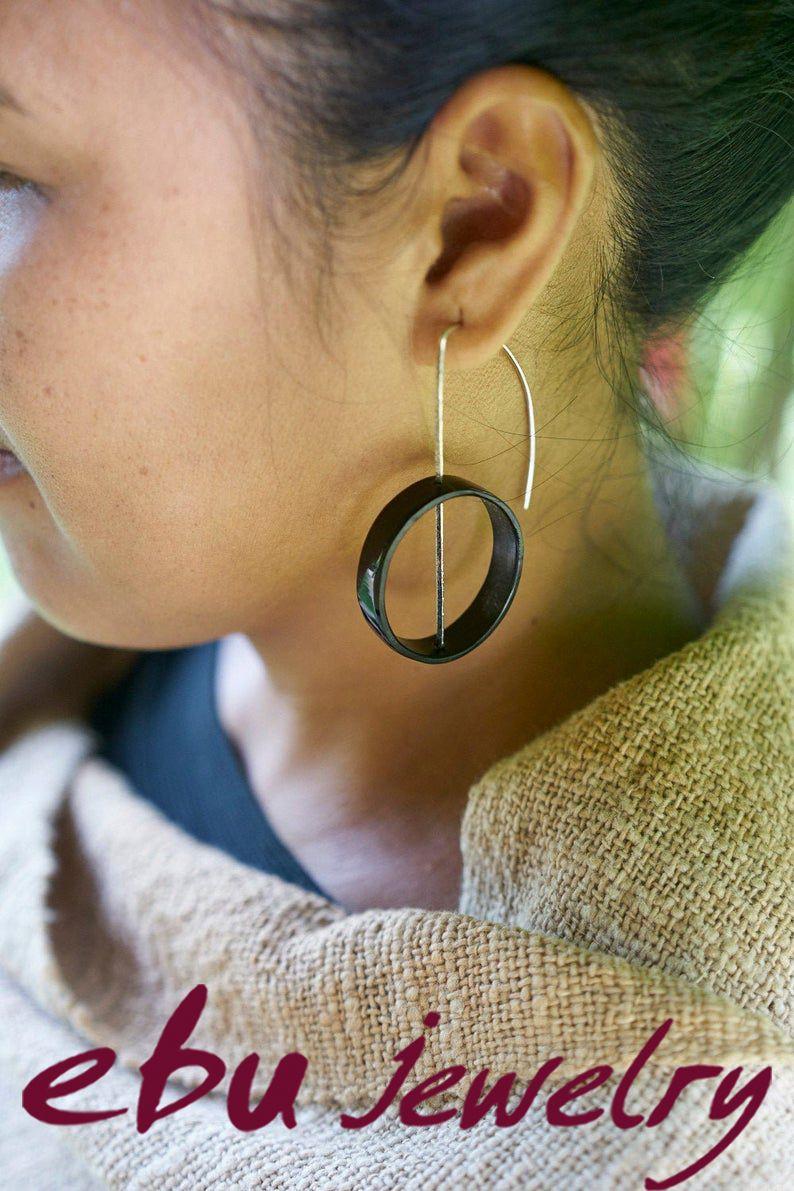 handmade Horn designer jewelry brooch brooch from horn