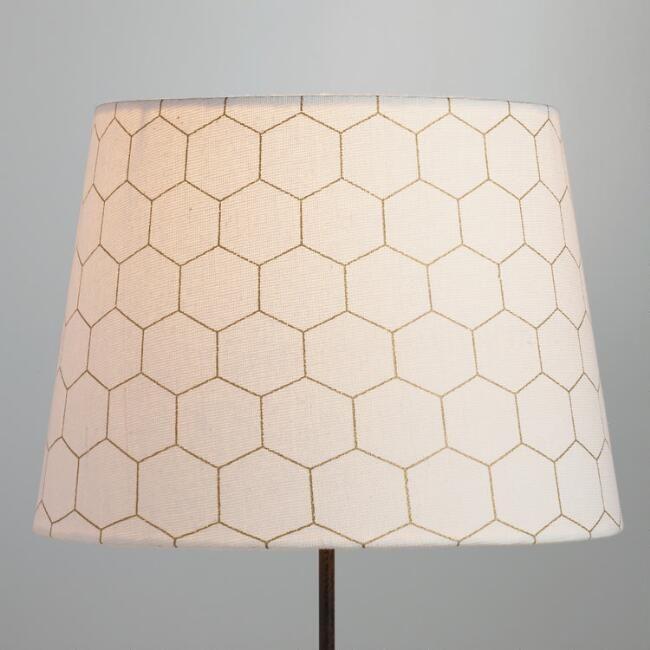 World Market Lamp Shades Gold Honeycomb Cotton Table Lamp Shade  Table Lamp Shades And