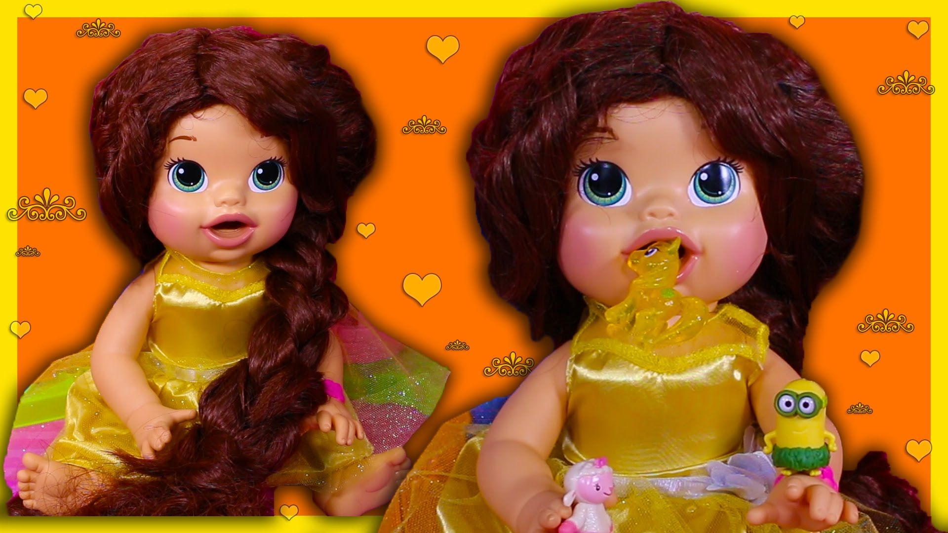 Belle Beauty And The Beast Custom Baby Alive Eats Play Doh Poops Surpris Baby Alive Belle Beauty And The Beast Beauty And The Beast