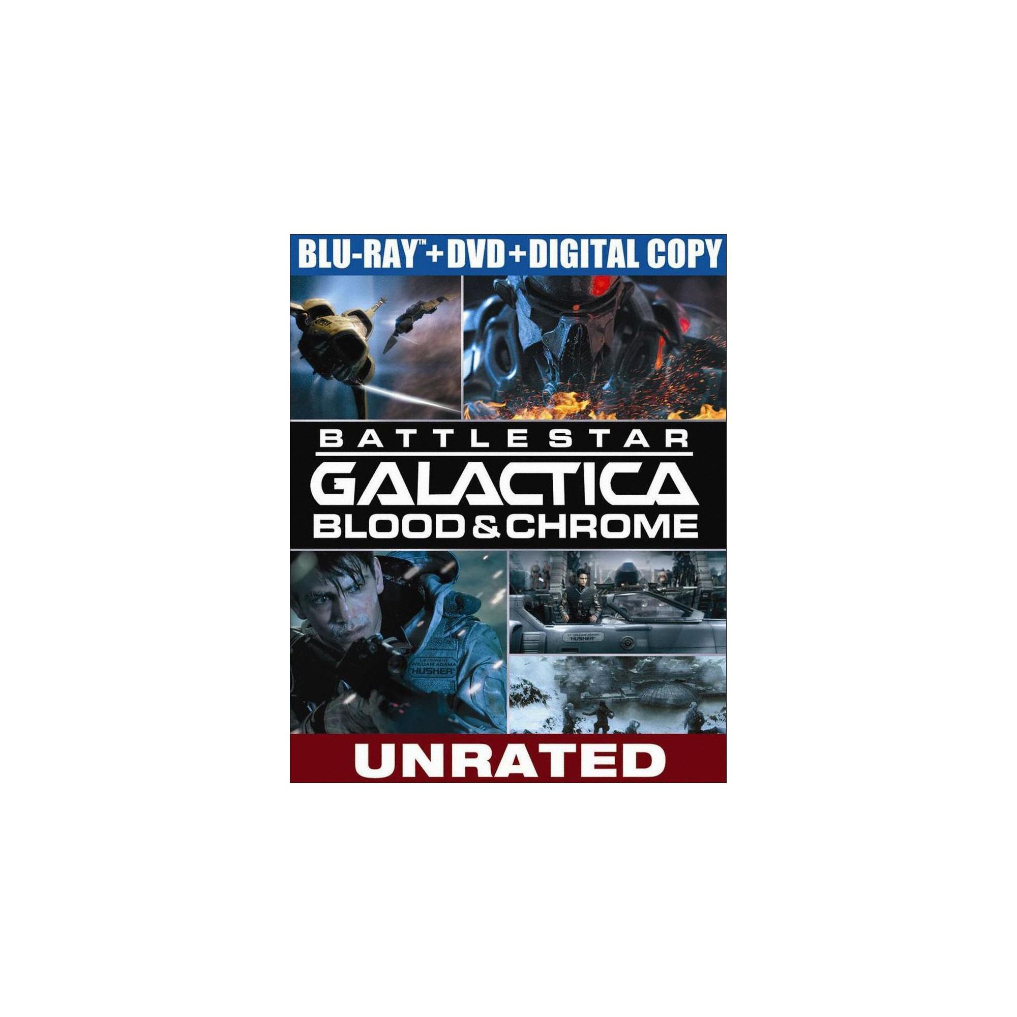 Battlestar Galactica Blood Chrome 2 Discs Blu Ray Dvd W