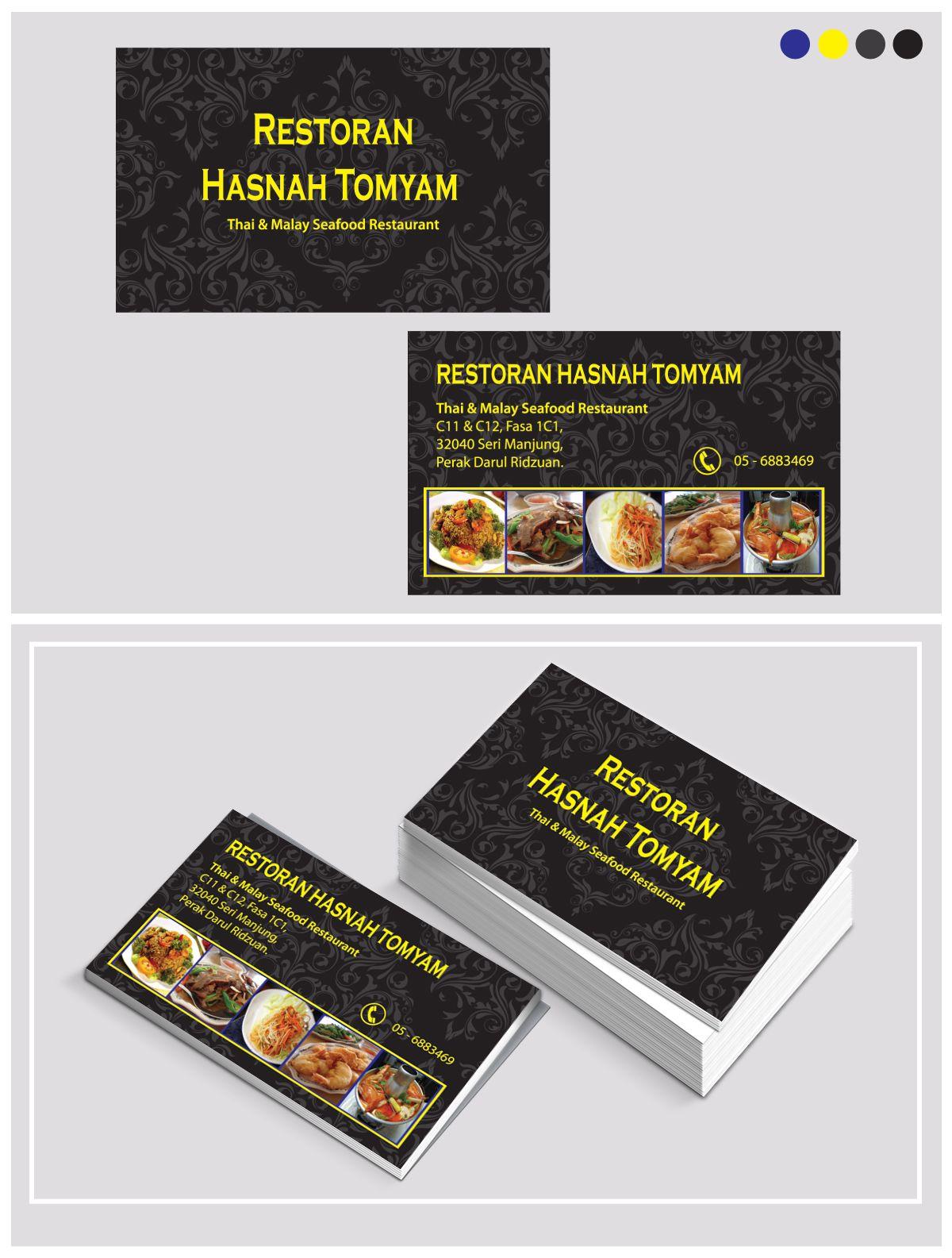 Business Card Thai Malay Seafood Restaurant Restoran Hasnah