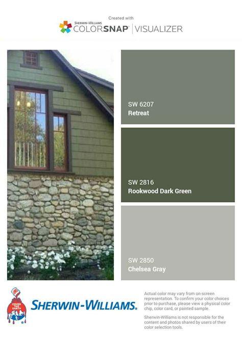 带有棕色屋顶的舍恩 威廉姆斯42 理想房屋的时尚外墙涂料颜色 In 2020
