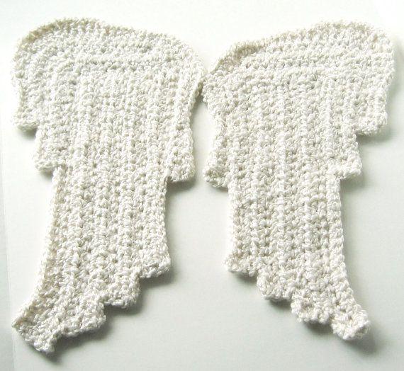 Crochet PATTERN Angel Wings - Two Styles - Appliques, Earrings, Baby ...