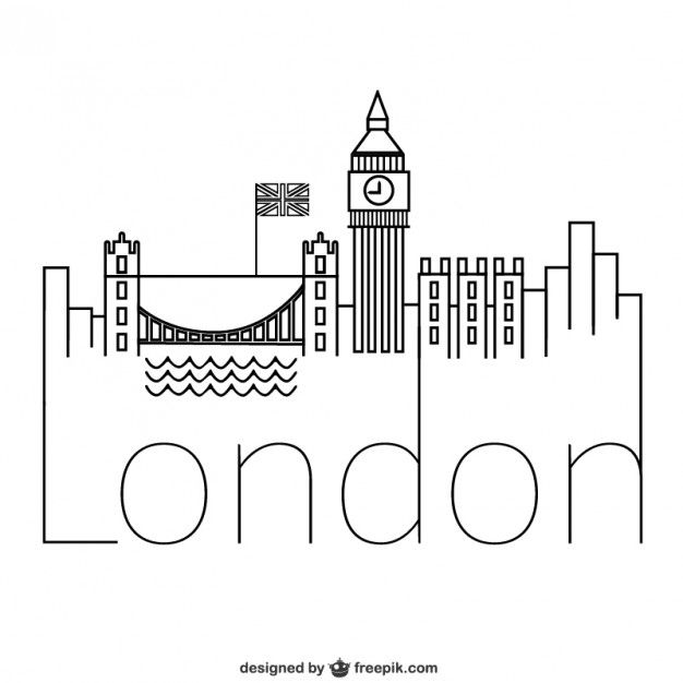 Line Drawing Tattoo London : Logotipo londres doodles bullet journals and