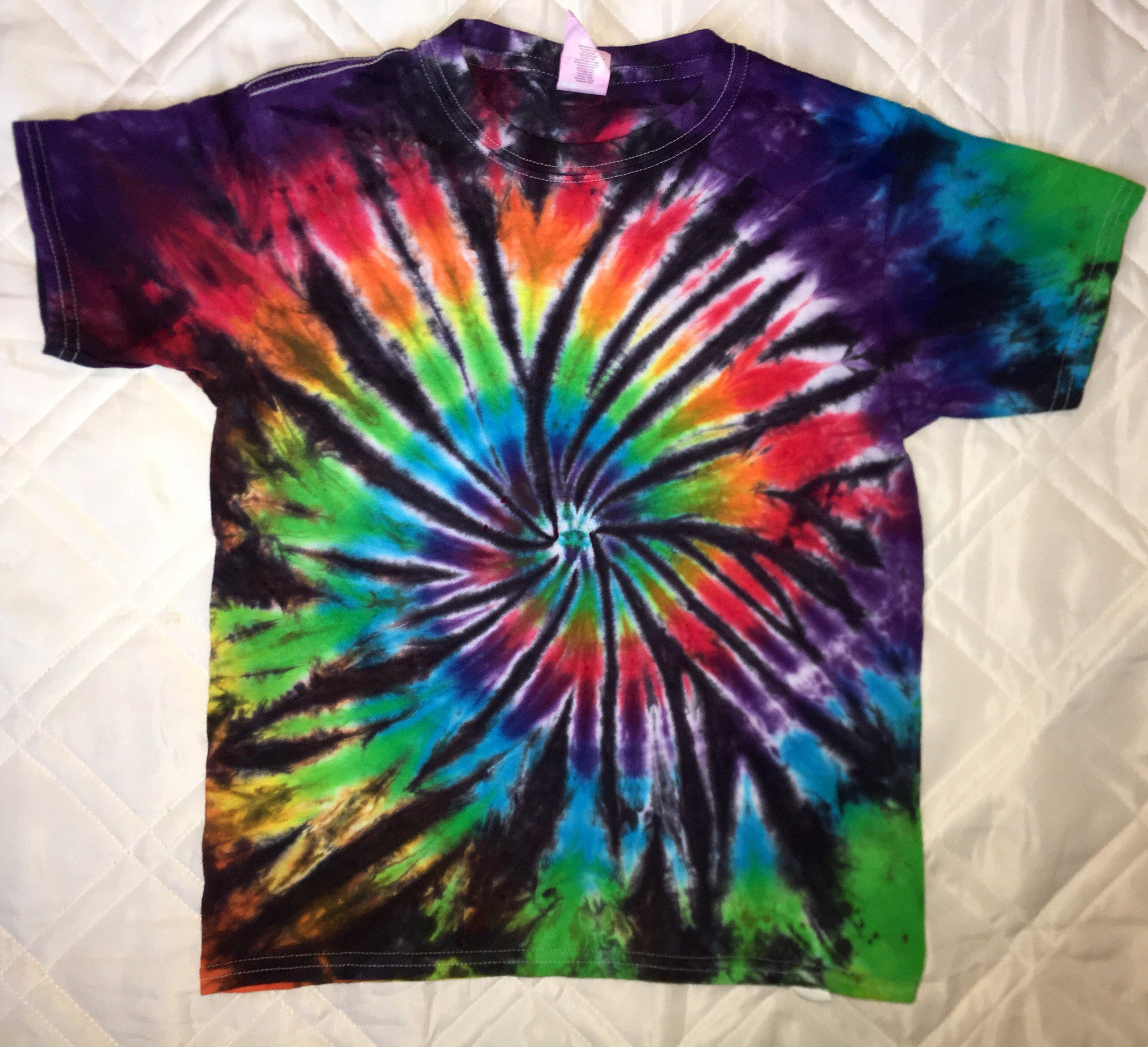 254996a9a1740 Youth Tie Dye T-Shirt size S! Sock Monkey Dyes Blue Red Green Purple ...