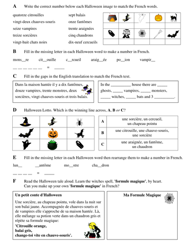 Halloween Numbers in French | Halloween words, Halloween resources, French  words