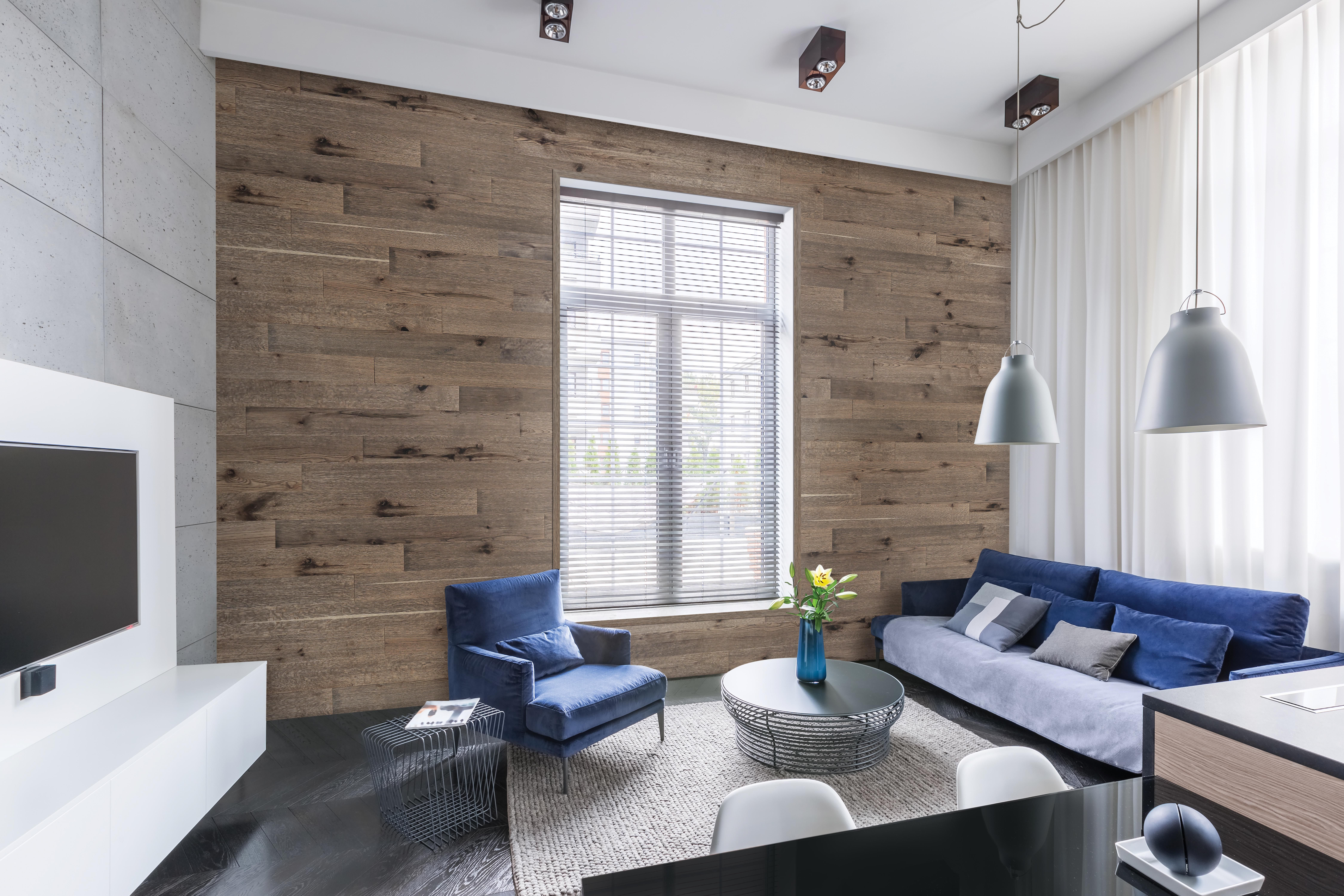 Our reclaimed wall planks are real wood, easy to install