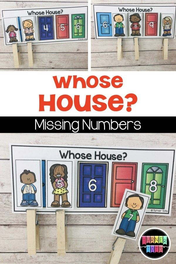 , Whose House? Missing Numbers Activity, Family Blog 2020, Family Blog 2020