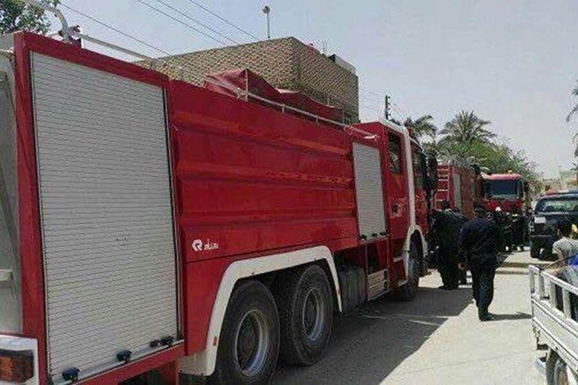 بالصـور الدفاع المدني يخمد حريقا داخل دار سكني في النجف