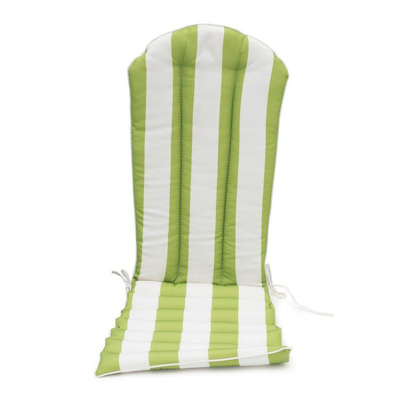 Coral Coast Lakeside Adirondack Chair Cushion Apple Green Thick Stripe - TRENDM055-1-APPLESTRIPE