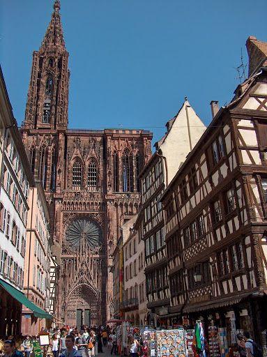 Catedral de Estrasburgo, La Alsacia, Francia.