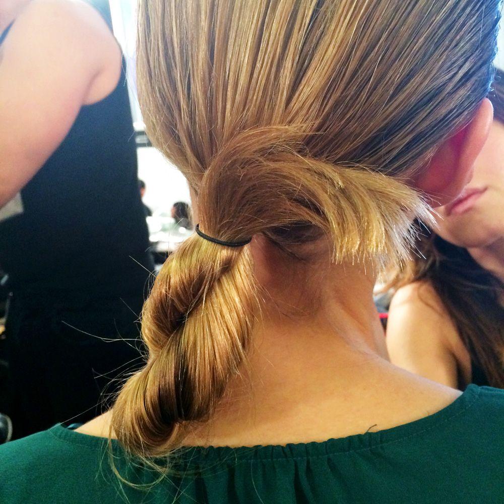Celine Fall 2014; twisted bun! | hair | Pinterest | Hair ...