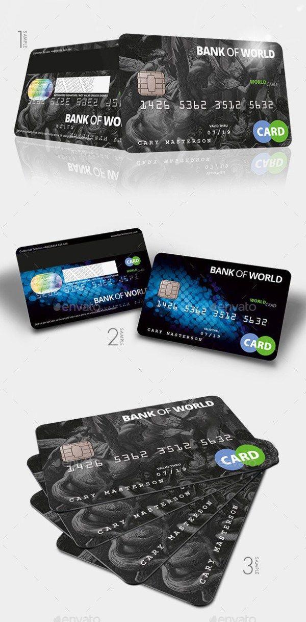 Bank Card Credit Card Cashcard Mockup Credit Card Design