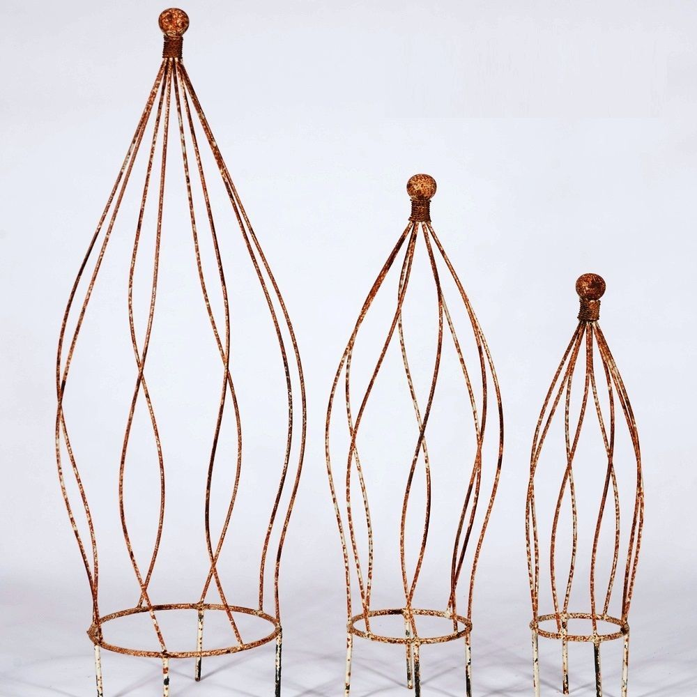 25 Wrought Iron Ball Top Topiary Garden Plant Support Trellis