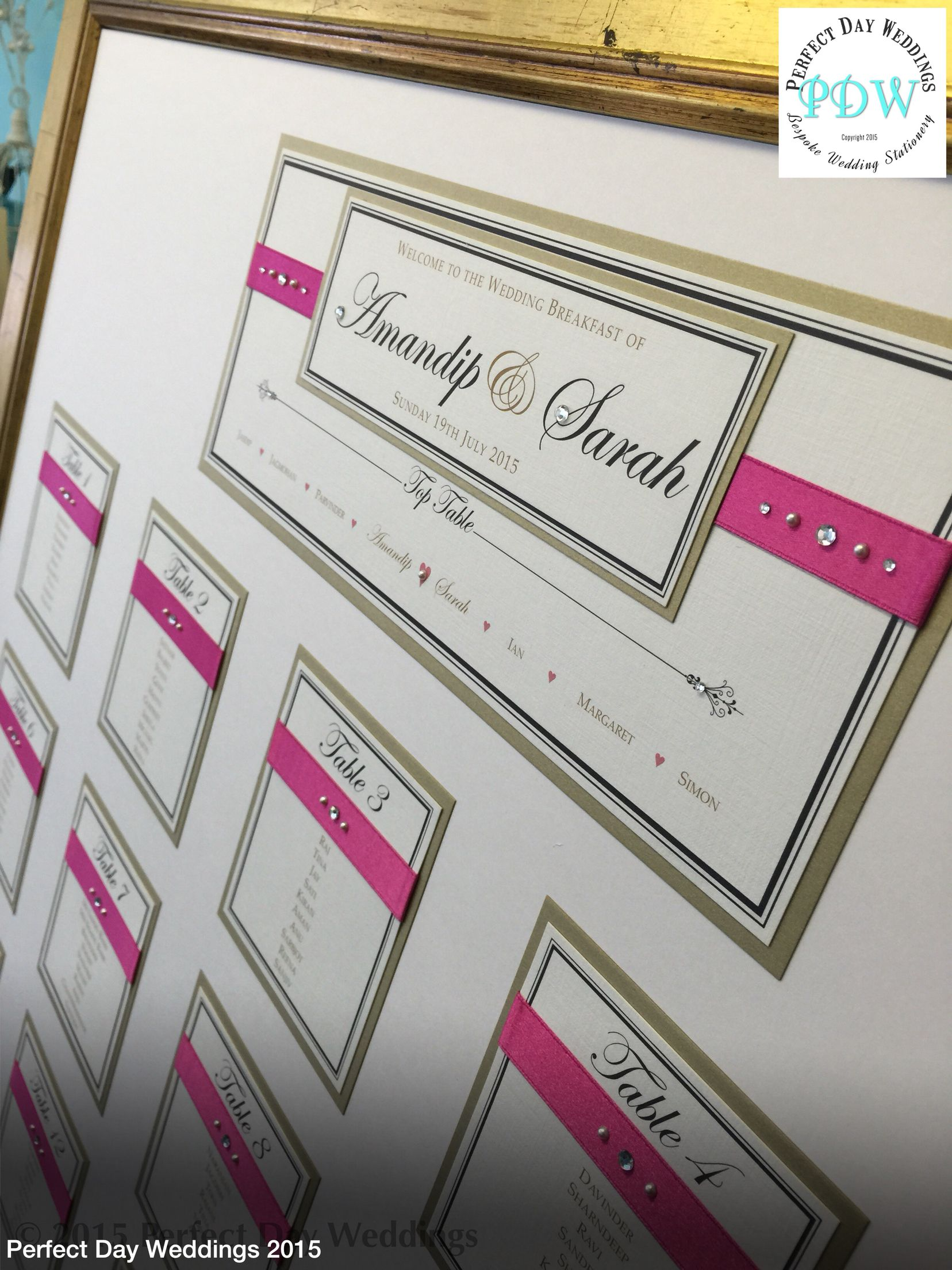 Table plan: Indian wedding invitations & bespoke luxury stationery ...